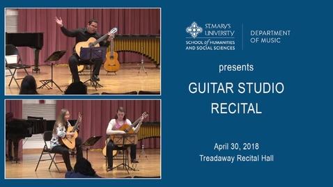 Thumbnail for entry Guitar Studio Recital---April 30, 2018