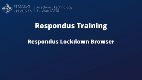 Thumbnail for entry Respondus Lockdown Browser without monitor