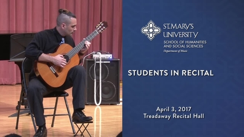 Thumbnail for entry Students in Recital -- April 3, 2017