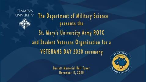 Thumbnail for entry Veterans Day Ceremony / November 11, 2020