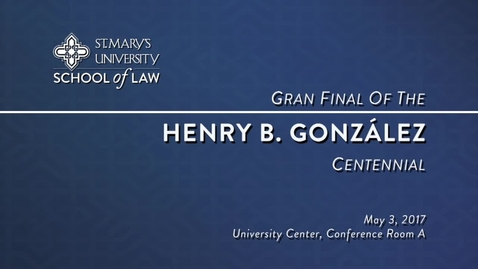 Thumbnail for entry Gran Final of the Henry B. González Centennial-May 3, 2017
