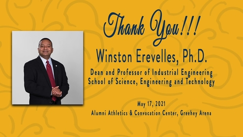 Thumbnail for entry Dean Winston Erevelles Reception -  May 17, 2021