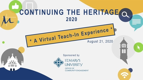 Thumbnail for entry 2020 Continuing the Heritage --Aug 21, 2020 /Session #3 - Christopher  Cantu