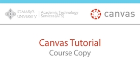 Thumbnail for entry Canvas Course Copy