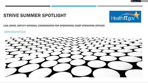 Thumbnail for entry HHS STRIVE Summer Spotlight