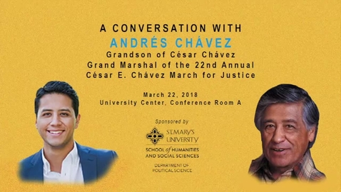 Thumbnail for entry A Conversation with Andrés Chávez -- March 22, 2018