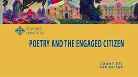 Thumbnail for entry Poetry and the Engaged Citizen-October 9, 2018