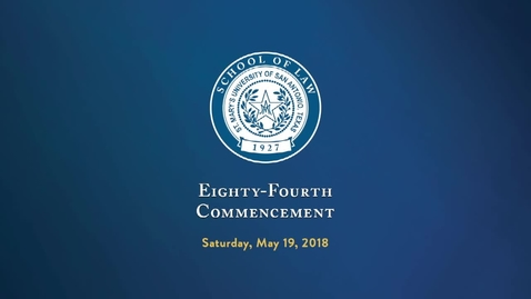Thumbnail for entry School of Law Commencement-May 19, 2018
