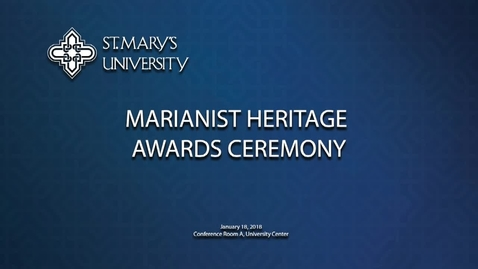 Thumbnail for entry Marianist Heritage Awards Ceremony--January 18, 2018