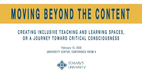 Thumbnail for entry  Moving Beyond the Content --Featuring Guest Speaker Beth E. Bukoski, Ph.D./ February 12, 2020