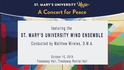 Thumbnail for entry Concert for Peace-October 10, 2029