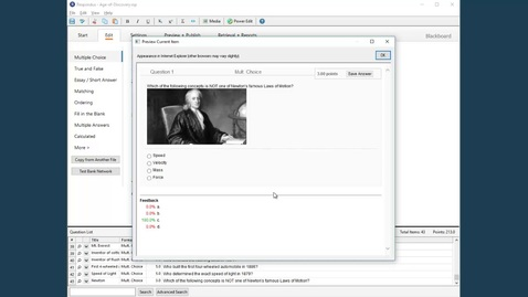 Thumbnail for entry Creating and Formatting Questions in Respondus 4.0