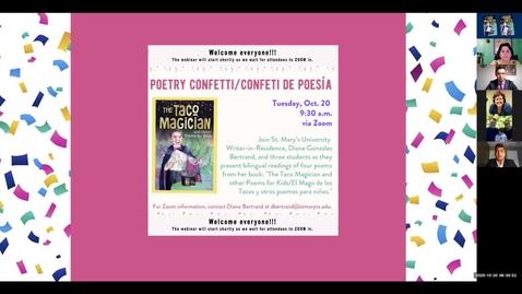 Thumbnail for entry Poetry Confetti /Confeti de Poesía / October 20, 2020