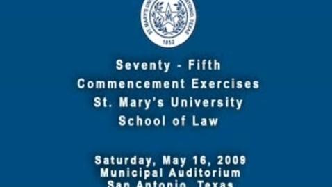 Thumbnail for entry Part 1 - Law School Graduation Spring 2009.m4v