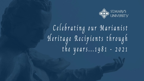 Thumbnail for entry Marianist Heritage Recipients Through the Years  / 1981-2021