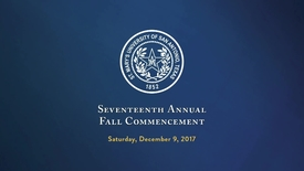 Thumbnail for entry Seventeenth Annual Fall Commencement / December 9, 2017