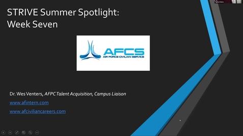 Thumbnail for entry STRIVE Summer Spotlight: Air Force Civilian Service