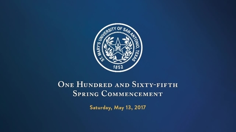 Thumbnail for entry One Hundred and Sixty-Fifth Annual Spring Commencement--May 13, 2017