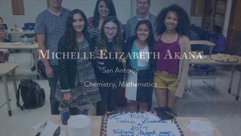Thumbnail for entry Michelle Elizabeth Akana-Presidential Award Winner