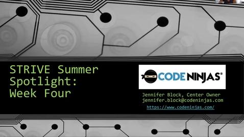 Thumbnail for entry STRIVE Summer Spotlight: Week Four