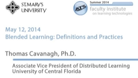 Thumbnail for entry Thomas B. Cavanagh, Ph.D. - Keynote: Distributed Learning in Higher Education
