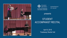 Thumbnail for entry Student Accompanist Recital---April 9, 2018