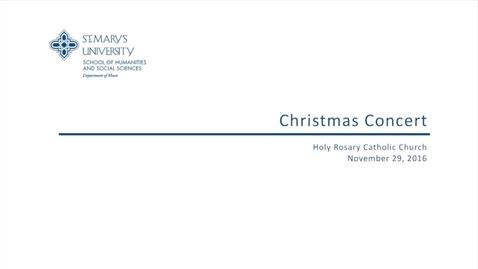 Thumbnail for entry Christmas Concert--November 29, 2016