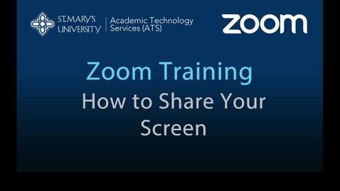 Thumbnail for entry Zoom — How to Share Your Screen