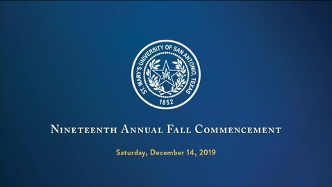 Thumbnail for entry Fall 2019 Commencement --December 14, 2019