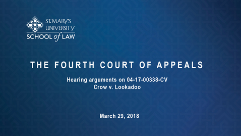 Thumbnail for entry The Fourth Court of Appeals March 29, 2018