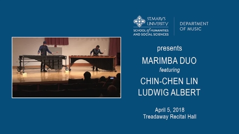 Thumbnail for entry Marimba Duo---April 5, 2018