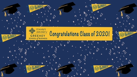 Thumbnail for entry Greehey Business School ---2020 Faculty Senior Send Offs