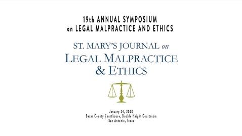 Thumbnail for entry 19th Annual Symposium on Legal Malpractice & Ethics - -- January 24, 2020 /Speaker 2:  Hon. Henry J. Bemporad