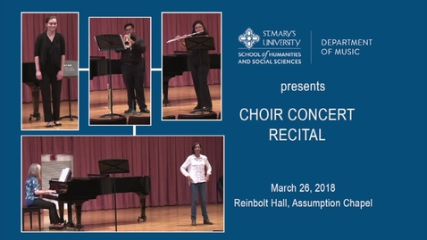 Thumbnail for entry Students in  Recital --- March 26, 2018