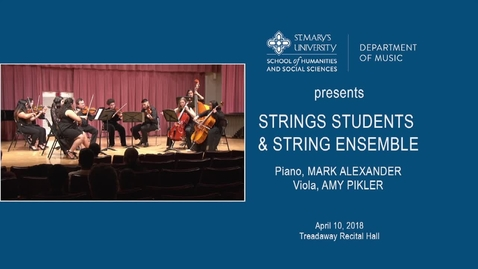 Thumbnail for entry String Students and String Ensemble ---April 10, 2018