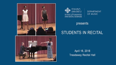 Thumbnail for entry Students in  Recital--- April 16, 2018