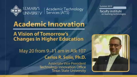 Thumbnail for entry 2019 Faculty Showcase - Keynote Speaker Carlos R. Solis, Ph.D., May 20, 2019