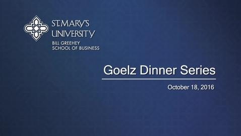 Thumbnail for entry 2016 Goelz Dinner Series -- October 18, 2016