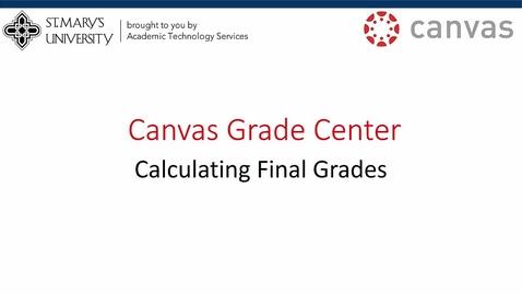 Thumbnail for entry Canvas Gradecenter Tutorial