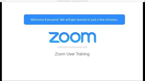Thumbnail for entry Zoom Advanced User Training: Sept 28, 2018