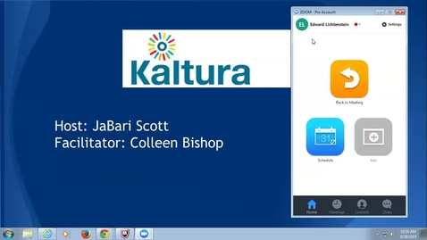 Thumbnail for entry Kaltura Information Session - June 29, 2015