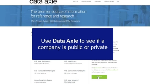Thumbnail for entry Data-Axle: Lookup a US company