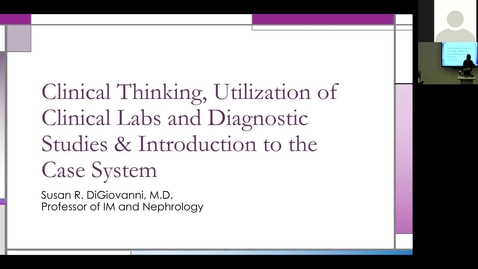 Thumbnail for entry 210806 - M1 - 8am - Diag Reas - Intro to Diagnostic Reasoning - DiGiovanni
