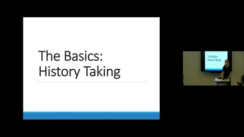 Thumbnail for entry 210804 - M1 - 8am - PCM - Lecture: History Taking - Pedram