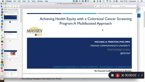 Thumbnail for entry  Health Equity: A Multifaceted Approach: Dr. Preston