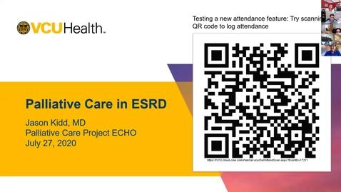Thumbnail for entry Palliative ECHO: End Stage Renal Disease (Jul. 2020)