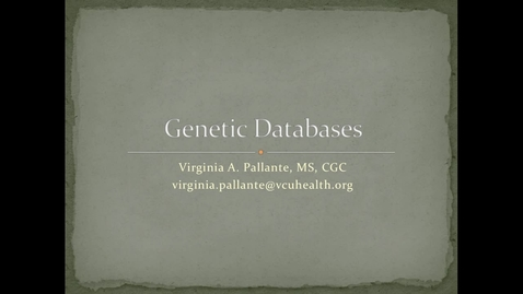Thumbnail for entry Pallante-GeneticDatabases-0917