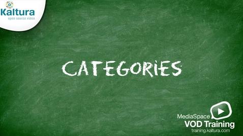 MediaSpace Categories