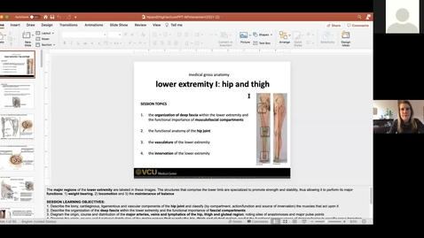Thumbnail for entry 210204 - M1 - 8am - MOVE - Anatomy: Lower Extremities Hip and Thigh - McGinn Greer