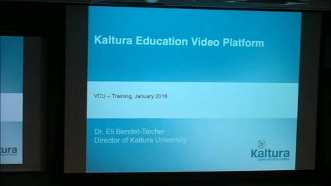 Kaltura Introductory Training